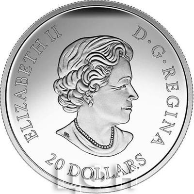 Канада 20 долларов Елизавета II  (аверс).jpg