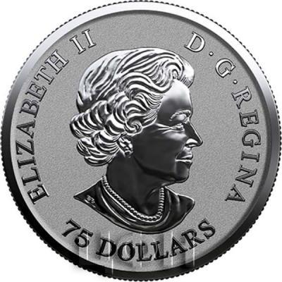 Канада 75 долларов Елизавета II  (аверс).jpg