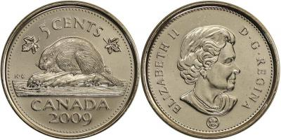 Канада 5 центов 2009 год.jpg