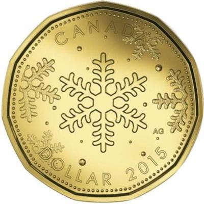 Канада 1 доллар 2015 «Рождество» (реверс).jpg