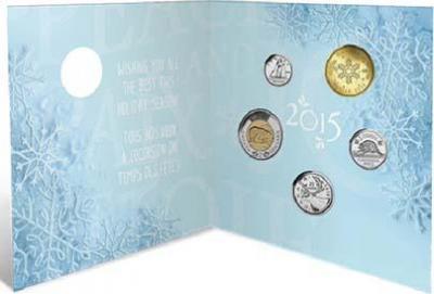 Канада 1 доллар 2015 «Рождество» (набор).jpg
