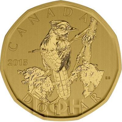 Канада 1 доллар 2015 «Голубая сойка» (реверс).jpg