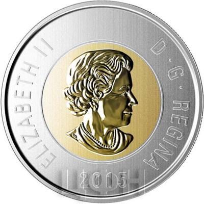 Канада 2 доллара 2015 «Детёныши росомахи» (аверс).jpg