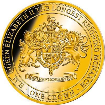 Гибралтар 1 крона 2015 год «Герб»  (реверс).jpg