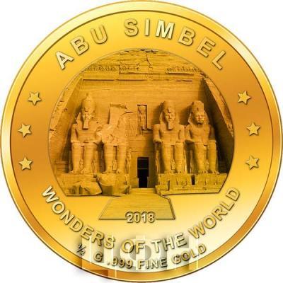 Нигер 100 франков КФА  2018 год «Абу-Симбел» (реверс).jpg