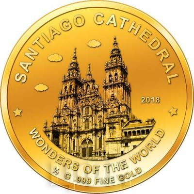 Нигер 100 франков КФА  2018 год «Собор Святого Иакова» (реверс).jpg