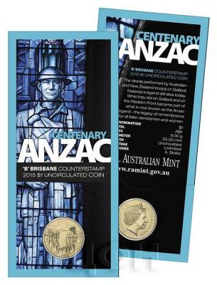 Австралия 1 доллар 2015 год бронза ANZAC CENTENARY 1915 - 2015 (блистер).jpg