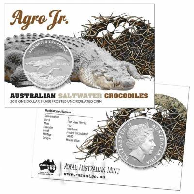 Австралия 1 доллар 2015 год Крокодил (блистер).jpg