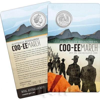 Австралия 20 центов 2015 год COO-EE MARCH (блистер).jpg
