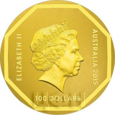 Австралия 100 долларов 2015 Страус (аверс).jpg