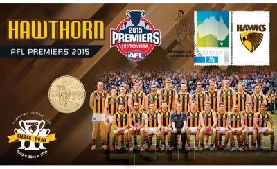 Австралия 1 доллар 2015 год Australian Football League (конверт).jpg
