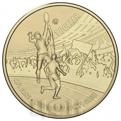 Австралия 1 доллар 2015 год Australian Football League бронза (реверс).jpg