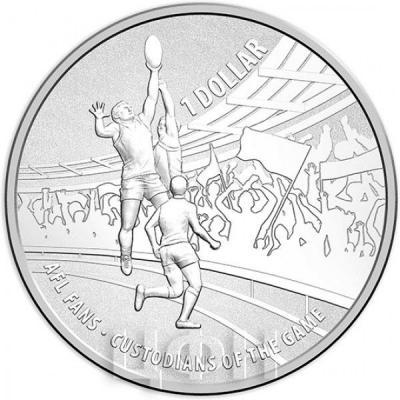 Австралия 1 доллар 2015 год Australian Football League серебро (реверс).jpg