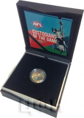 Австралия 1 доллар 2015 год Australian Football League цветная (коробка).jpg