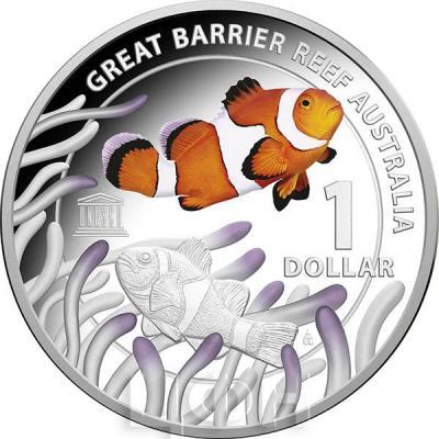 Австралия 1 доллар 2015 год Большой Барьерный риф (реверс).jpg