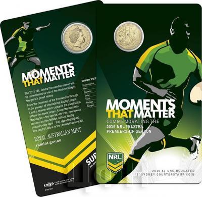 Австралия 1 доллар 2015 год NRL MOMENTS THAT MATTER (блистер).jpg