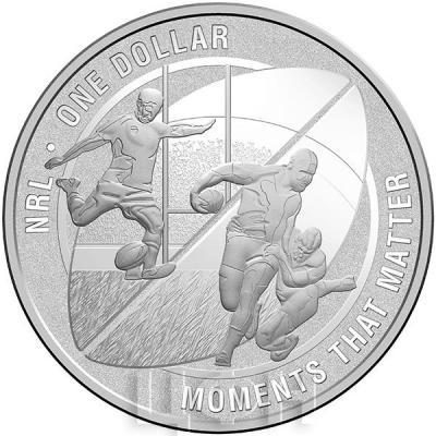 Австралия 1 доллар 2015 год NRL MOMENTS THAT MATTER (реверс).jpg
