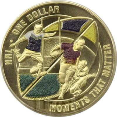 Австралия 1 доллар 2015 год NRL MOMENTS THAT MATTER цветная (реверс).jpg