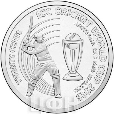 Австралия 20 центов 2015 Чемпионат мира по крикету (реверс).jpg