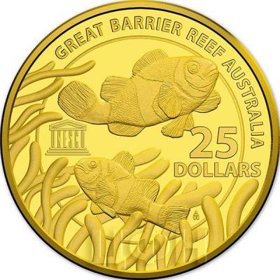 Австралия 25 долларов 2015 год Большой Барьерный риф (реверс).jpg