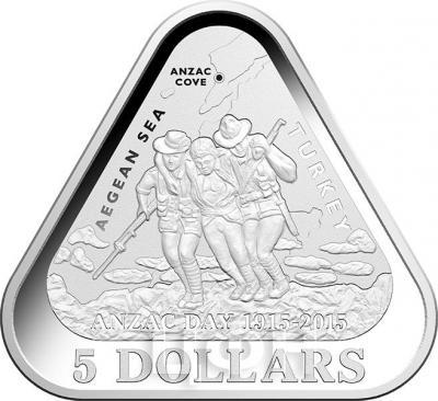 Австралия 5 долларов 2015 год ANZAC (реверс).jpg