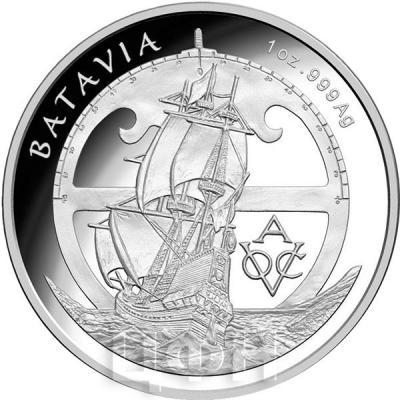 Австралия 5 долларов 2015 год Батавия (реверс).jpg