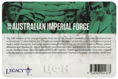 Австралия 20 центов АНЗАК AUSTRALIAN IMPERIAL FORCE (карточка).jpg
