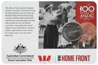 Австралия 20 центов АНЗАК HOME FRONT (карточка).jpg