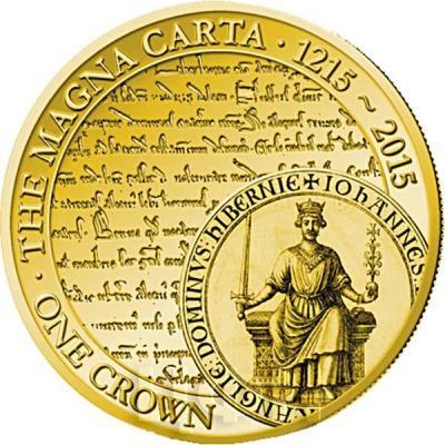 Тристан-да-Кунья 1 крона 2015 год. Монета 800-летие подписания - Великой хартии вольностей.jpg