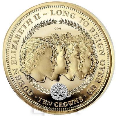 Тристан-да-Кунья 1 крона 2017 год золото «4 портрета» (реверс).jpg