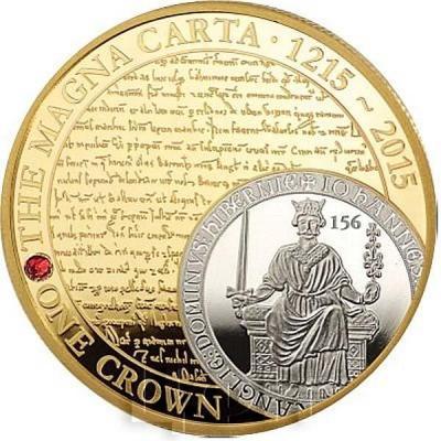 Тристан-да-Кунья 1 крона 2015 год Великая Хартия.jpg