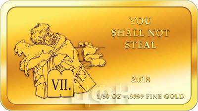 Конго 100 франков КФА 2018 год «10 заповедей» (7).jpg