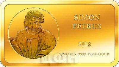 Конго 100 франков КФА 2018 год «Апостолы» (Пётр).jpg