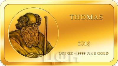Конго 100 франков КФА 2018 год «Апостолы» (ФОМА).jpg