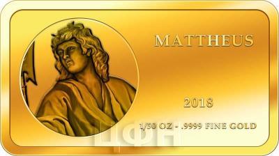 Конго 100 франков КФА 2018 год «Апостолы» (МАТФЕЙ ).jpg