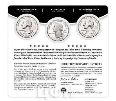 США квотер 2015 года «26. Усадьба Национальный памятник Америки Гомстед в штате Небраска» карточка (аверс).jpg