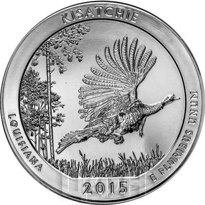 США квотер 2015 года Национальный лесной заказник «Кисатчи» серебро (реверс).jpg