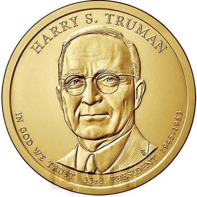 США 1 доллар 2015 года «Гарри Трумен 33 президент».jpg