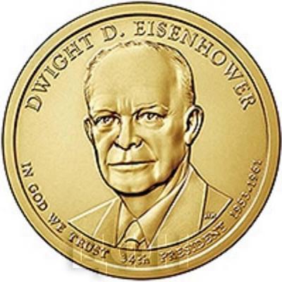 США 1 доллар 2015 года «Дуайт Д. Эйзенхауэр 34 президент» (реверс).jpg