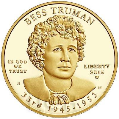 США 10 долларов 2015 года «Бесс Трумэн» (аверс).jpg