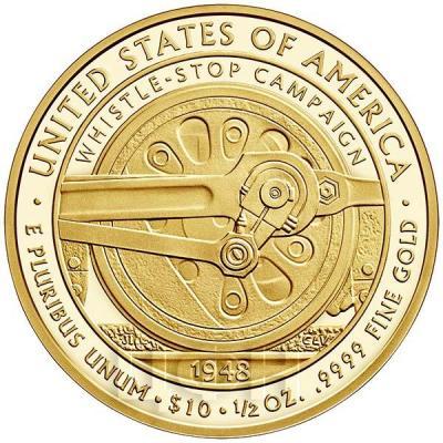 США 10 долларов 2015 года «Бесс Трумэн» (реверс).jpg