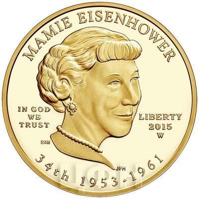 США 10 долларов 2015 года «Мейми Эйзенхауэр» (аверс).jpg