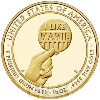 США 10 долларов 2015 года «Мейми Эйзенхауэр» (реверс).jpg