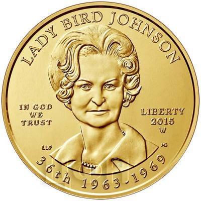 США 10 долларов 2015 года «Леди Бёрд Джонсон» (аверс).jpg