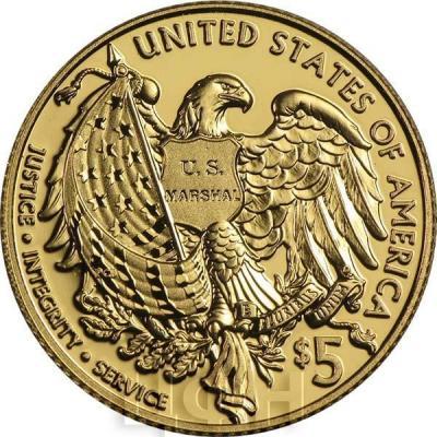 США 5 долларов 2015 года Шерифы (реверс).jpg