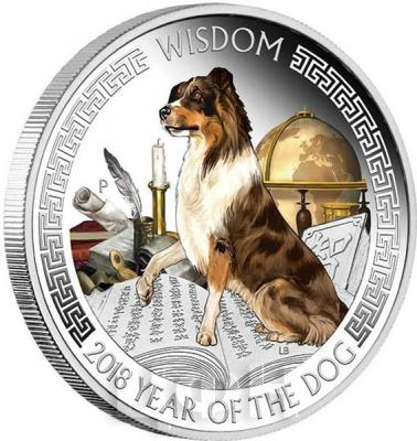 Тувалу 1 доллар 2018 «Год собаки» восьмигранник (реверс).jpg