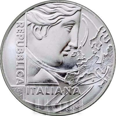 Италия 5 евро 2017 год «Римский Договор» (аверс).jpg