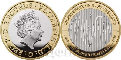 Великобритания 2018 год £ 2 - «двухсотлетие Франкенштейна».jpg
