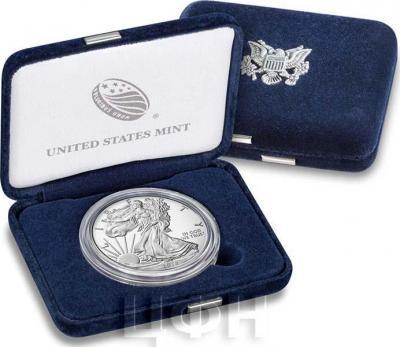 США 1 доллар 2018 «Серебряный орел» (упаковка).jpg