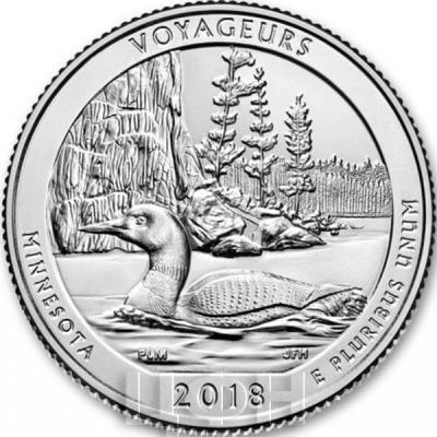 США 25 центов 2018 год «Национальный заповедник Апостольских островов» (реверс).jpg